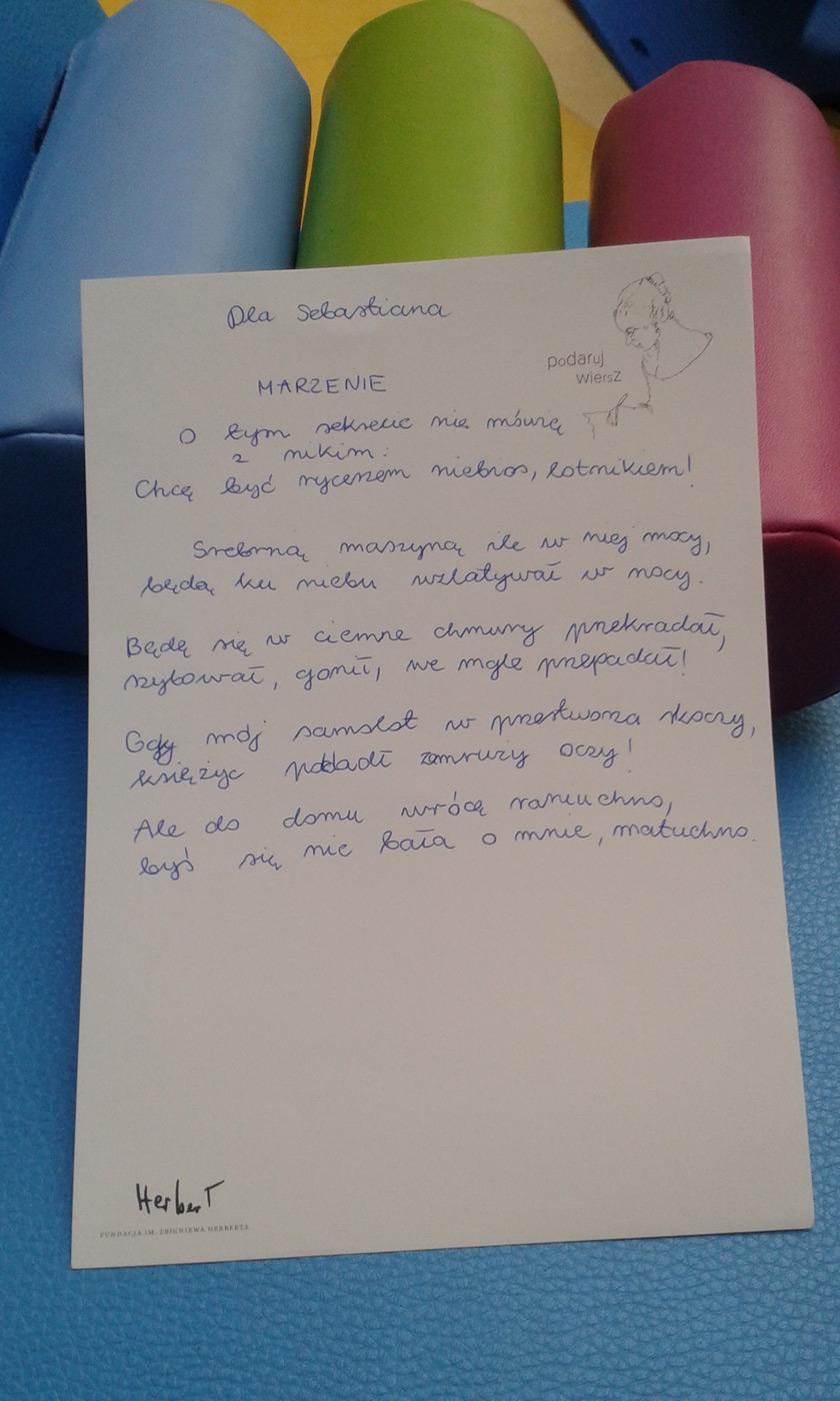 Podaruj Wiersz Akcja Społeczna Fundacji Im Zbigniewa