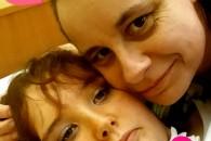 Na zdjęciu Natalia z Mamą.